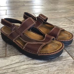 Womens Naot Leather Brown | Women's Size 39 L-8